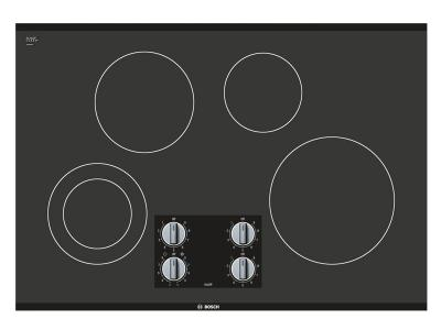"30"" Bosch Electric Cooktop 500 Series Black Frameless NEM5066UC"