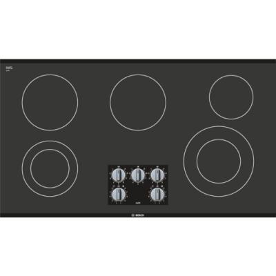 """36"""" Bosch Electric Cooktop 500 Series - Black Frameless NEM5666UC"""