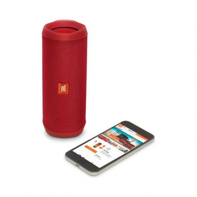 JBL full-featured waterproof portable Bluetooth speaker with surprisingly powerful sound Flip 4 (R) JBLFLIP4REDAM