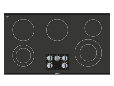 "36"" Bosch Electric Cooktop 500 Series - Black Frameless NEM5666UC"