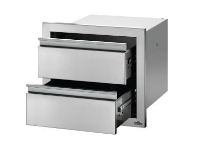 """Napoleon 18"""" x 16"""" Double Drawer in Stainless Steel - BI-1816-2DR"""