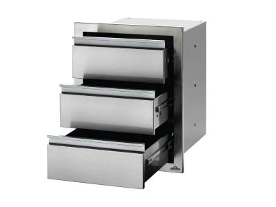 """Napoleon 18"""" x 24"""" Triple Drawer in Stainless Steel - BI-1824-3DR"""