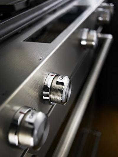 "30"" KitchenAid 7.1 Cu. Ft. 5 Burner Dual Fuel Convection Front Control Range With Baking Drawer - YKSDB900ESS"
