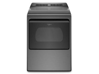 """27"""" Whirlpool 7.4 Cu. Ft. Smart Top Load Electric Dryer In Chrome Shadow - YWED6120HC"""