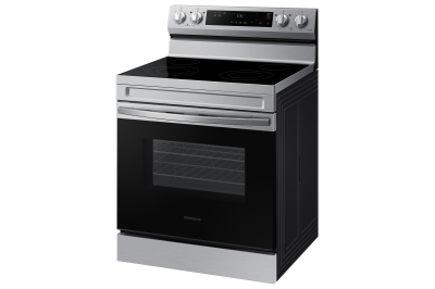 """30"""" Samsung 6.3 Cu. Ft. Freestanding Electric Range With Wi-Fi - NE63A6111SS"""