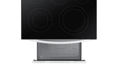 """30"""" Samsung 6.3 Cu. Ft. Freestanding Electric Range With Built-In Wi-fi - NE63A6511SW"""