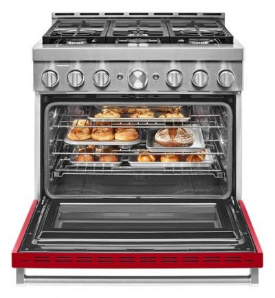 "36"" KitchenAid Smart Commercial-Style Gas Range With 6 Burners - KFGC506JPA"