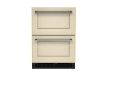 """24"""" KitchenAid 4.44 Cu. Ft. Undercounter Double-Drawer Refrigerator in Panel Ready - KUDR204KPA"""