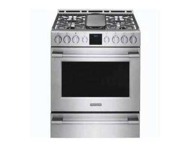 """30"""" Frigidaire Professional 5.6 Cu. Ft. Front Control Gas Range with Air Fry - PCFG3078AF"""