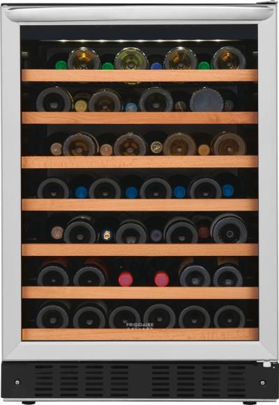 "24"" Frigidaire 52 Bottle Wine Cooler - FGWC5233TS"