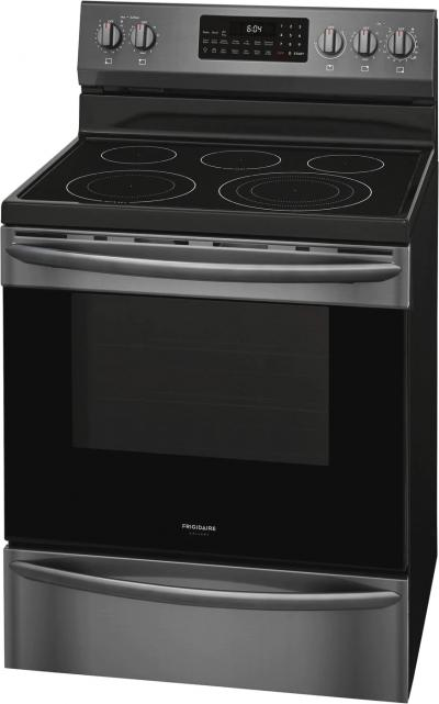 """30"""" Frigidaire Gallery 5.7 Cu. Ft. Freestanding Electric Range With Air Fry In Black Stainless Steel - GCRE306CAD"""