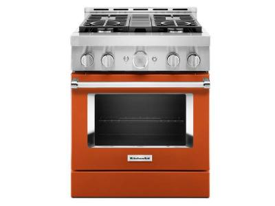 "30"" KitchenAid Smart Commercial-Style Gas Range With 4 Burners - KFGC500JSC"
