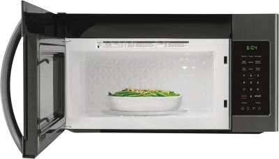 """30"""" Frigidaire 1.8 Cu. Ft. Over the Range Microwaves With Black Stainless Steel - FFMV1846VD"""