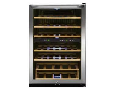 "22"" Frigidaire 4.4 Cu. Ft. 38 Bottle Two-Zone Wine Cooler - FFWC3822QS"