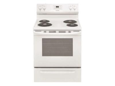 """30"""" Frigidaire 5.3 Cu. Ft. Free Standing Electric Range With 4 Burners - FCRC301CAW"""