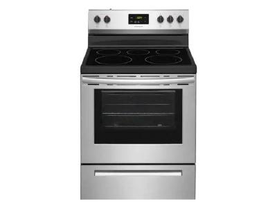 """30"""" Frigidaire 5.3 Cu. Ft. Free Standing Electric Range With 5 Burners - FCRE305CAS"""