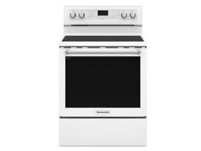 "30"" KitchenAid 5-Element Electric Convection Range - YKFEG500EWH"