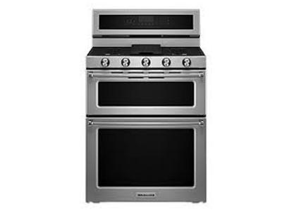 "30"" KitchenAid 5 elements Electric Double Oven Convection Range - YKFED500ESS"