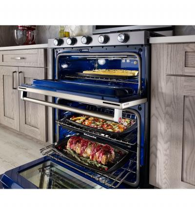 "30"" 5 Burner Gas Double Oven Convection Range - KFGD500ESS"