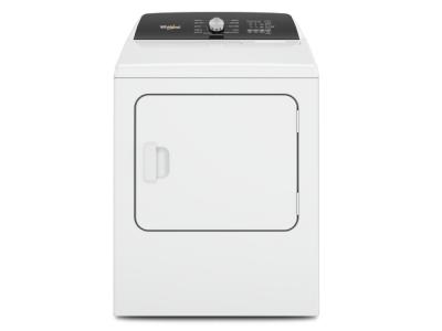 """29"""" Whirlpool 7.0 Cu. Ft. Top Load Electric Moisture Sensing Dryer With Steam - YWED5050LW"""
