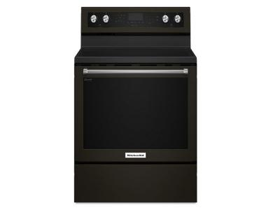 "30"" KitchenAid 5-Element Electric Convection Range - YKFEG500EBS"