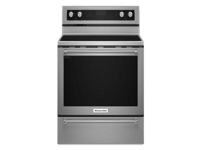 "30"" KitchenAid 6.4 Cu. Ft. Self-Clean Convection Smooth Top Electric Range YKFEG510ESS"