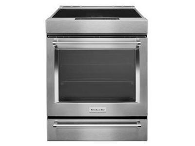 "30"" Kitchenaid4-Element Induction Convection Front Control Range With Baking Drawer KSIB900ESS"