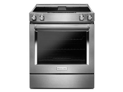 "30"" KitchenAid  4-Element Electric Downdraft Front Control Range KSEG950ESS"
