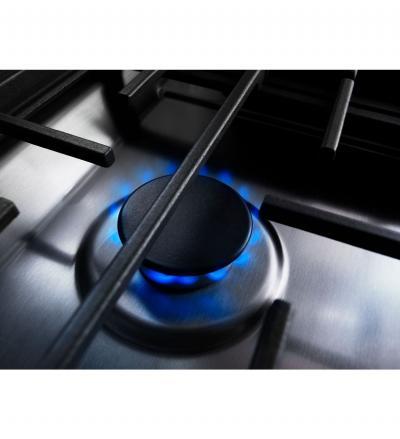 "30"" KitchenAid 4-Burner Dual Fuel Downdraft Front Control Range KSDG950ESS"