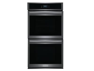 """27"""" Frigidaire Gallery 7.6 Cu. Ft. Double Electric Wall Oven With Total Convection In Black Stainless Steel - GCWD2767AD"""