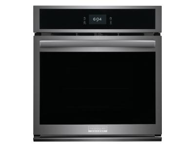 """27"""" Frigidaire Gallery 3.8 Cu. Ft. Single Electric Wall Oven With Total Convection In Black Stainless Steel - GCWS2767AD"""