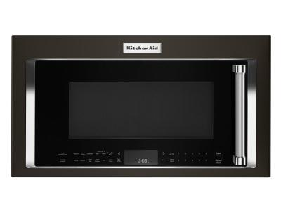 "30"" KitchenAid® 1.9 CU FT OVER THE RANGE CONVECTION MICROWAVE YKMHC319EBS"