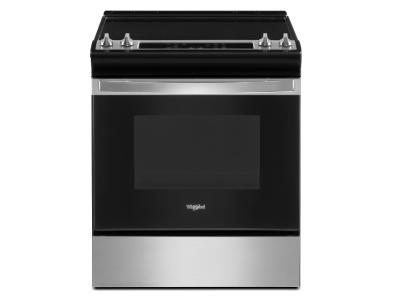 """30"""" Whirlpool 4.8 Cu. Ft. Electric Range With Frozen Bake Technology In Stainless Steel - YWEE515S0LS"""