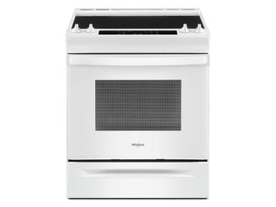 """30"""" Whirlpool 4.8 Cu. Ft. Electric Range With Frozen Bake Technology In White - YWEE515S0LW"""