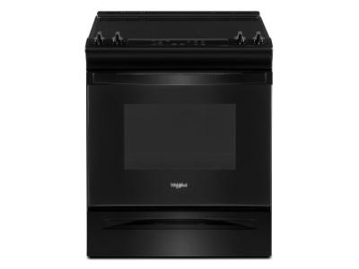 """30"""" Whirlpool 4.8 Cu. Ft. Electric Range With Frozen Bake Technology In Black - YWEE515S0LB"""