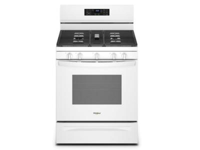 """30"""" Whirlpool 5.0 Cu. Ft. Gas Range With 5-in-1 Air Fry Oven In White - WFG550S0LW"""