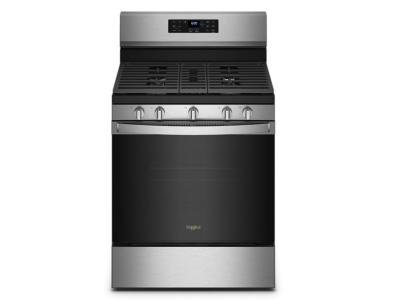 """30"""" Whirlpool 5.0 Cu. Ft. Freestanding Gas Range With 5-in-1 Air Fry Oven In Fingerprint Resistant Stainless Steel - WFG550S0LZ"""
