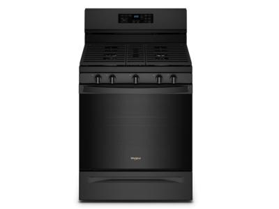 """30"""" Whirlpool 5.0 Cu. Ft. Gas Range With 5-in-1 Air Fry Oven In Black - WFG550S0LB"""
