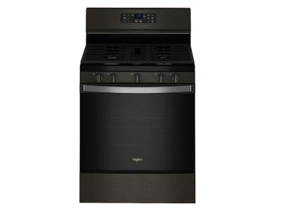 """30"""" Whirlpool 5.0 Cu. Ft. Gas Range With 5-in-1 Air Fry Oven In Black Stainless - WFG550S0LV"""