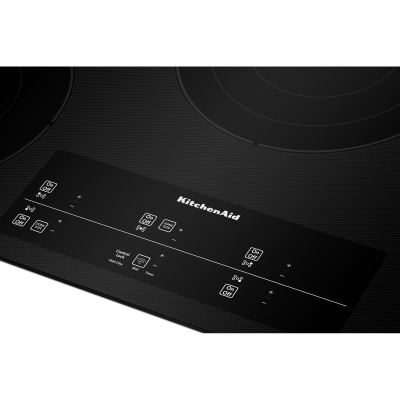 """36"""" KitchenAid Electric Cooktop With 5 Elements and Touch-Activated Controls In Black - KCES956KBL"""