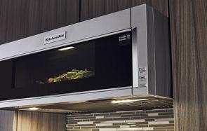 "30"" KitchenAid 1000-Watt Low Profile Microwave Hood Combination-YKMLS311HSS"