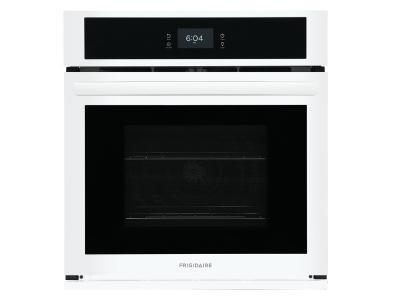 """27"""" Frigidaire 3.8 Cu. Ft. Single Electric Wall Oven With Fan Convection In White - FCWS2727AW"""