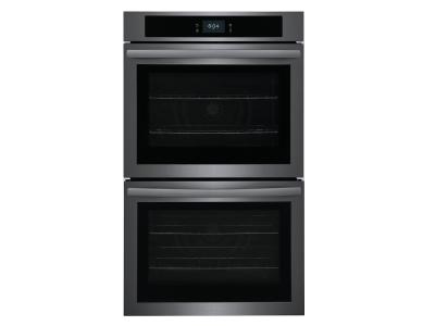 """30"""" Frigidaire 10.6 Cu. Ft. Double Electric Wall Oven With Fan Convection In Black Stainless Steel - FCWD3027AD"""