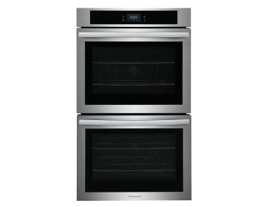 """30"""" Frigidaire 10.6 Cu. Ft. Double Electric Wall Oven With Fan Convection In Stainless Steel - FCWD3027AS"""