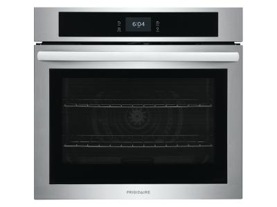 """30"""" Frigidaire 5.3 Cu. Ft. Single Electric Wall Oven With Fan Convection In Stainless Steel - FCWS3027AS"""