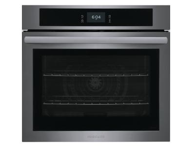 """30"""" Frigidaire 5.3 Cu. Ft. Single Electric Wall Oven With Fan Convection In Black Stainless Steel - FCWS3027AD"""