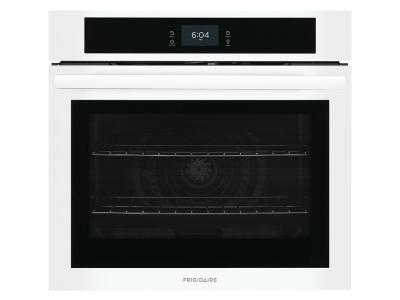 """30"""" Frigidaire 5.3 Cu. Ft. Single Electric Wall Oven With Fan Convection In White - FCWS3027AW"""