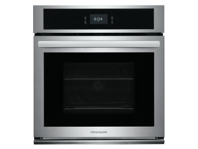"""27"""" Frigidaire 3.8 Cu. Ft. Single Electric Wall Oven With Fan Convection In Stainless Steel - FCWS2727AS"""