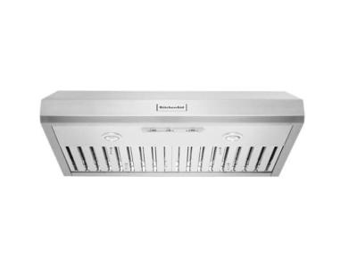 "36"" KitchenAid Commercial-Style Under-Cabinet Range Hood System - KVUC606JSS"