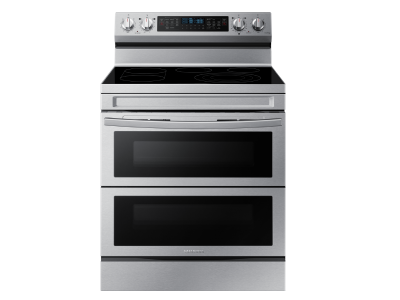 """30"""" Samsung 6.3 cu.ft. Electric Range with Air Fry and Flex Duo - NE63A6751SS"""